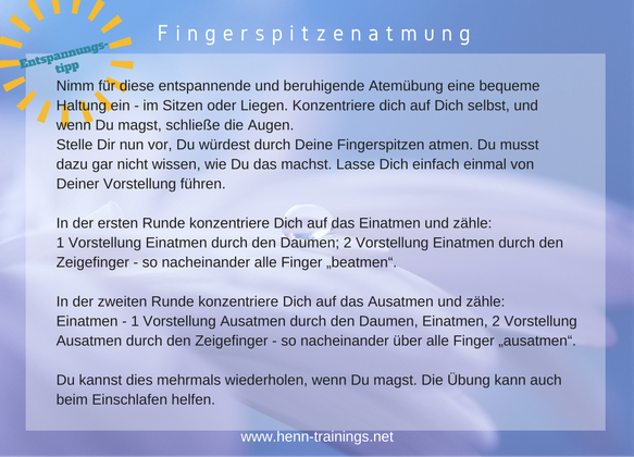 Fingerspitzenatmung